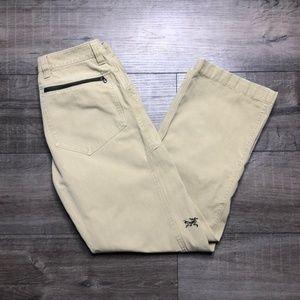 "Arcteryx beige hiking Damen pants size 6 waist 28"""